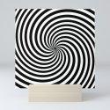 Black And White Op Art Spiral by lebensartdesign