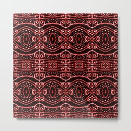 Tribal Ornate Geometric Pattern Metal Print