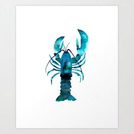Blue Lobster Art Print
