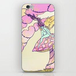 Psychedelic mushroom fairy iPhone Skin