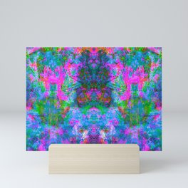 Kamana (Ultraviolet) (psychedelic, abstract, fluorescent) Mini Art Print