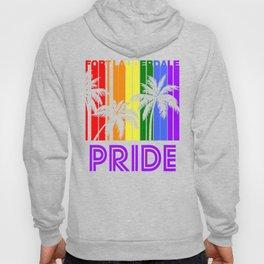 Fort Lauderdale Pride Gay Pride LGBTQ Rainbow Palm Trees Hoody