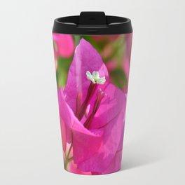 Bougainvillea pink macro 018 Travel Mug