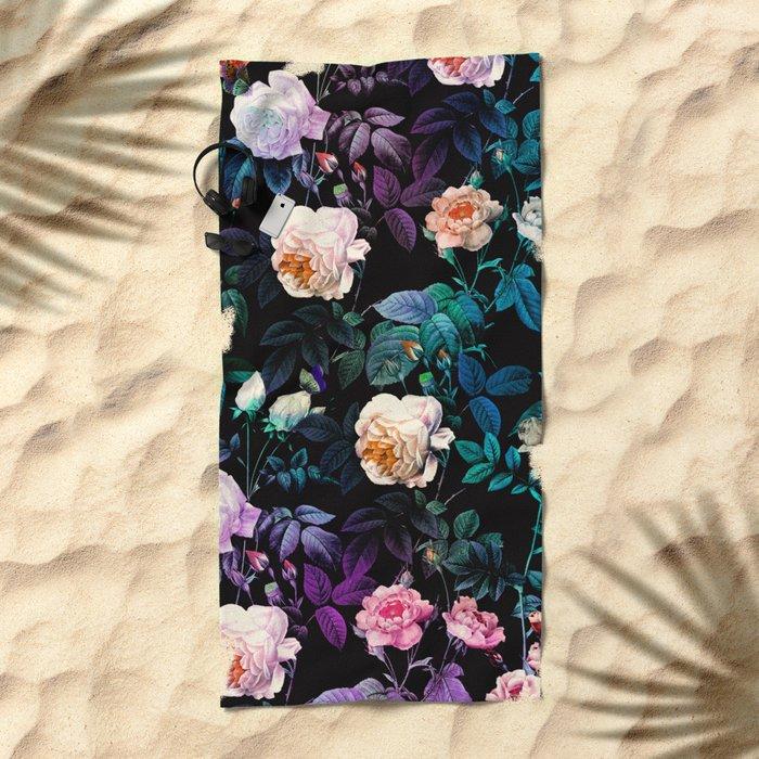Night Forest Beach Towel