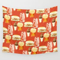 junk food Wall Tapestries featuring Junk Food by popsicledonut