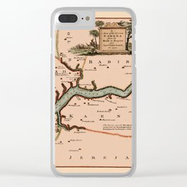 Map Of Gambia 1745 Clear iPhone Case