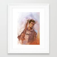 stiles stilinski Framed Art Prints featuring [ STILES STILINSKI ] by AkiMao