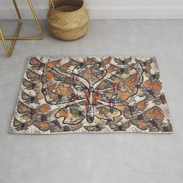 """""""Butterfly Mosaic Pattern"""" Rug"""