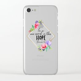 This Hope Clear iPhone Case