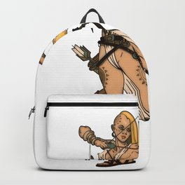 Warrior Tribal Archer Woman Backpack
