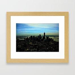 Artistic NYC Skyline Framed Art Print