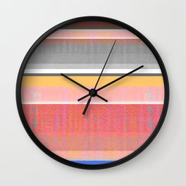 Sunshine in the Mind: Uplifting Happy Color Texture Study Abstract Wall Clock