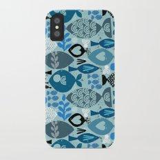 blue fish iPhone X Slim Case