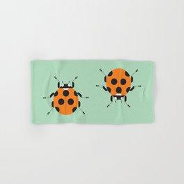 Lady Bug Green Hand & Bath Towel