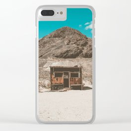 In The Middle of Nowhere | Rhyolite, Nevada Clear iPhone Case