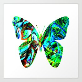 Fluid Butterfly  Art Print