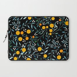 Oranges Black Laptop Sleeve