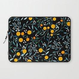 Oranges Black Laptop Sleeve