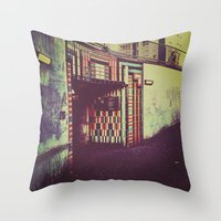 subway Throw Pillows featuring Subway by Efua Boakye