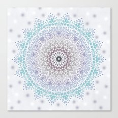 BLUE SUMMER MANDALA Canvas Print