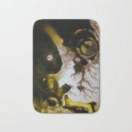 Alien embryo, acrylic on canvas Bath Mat