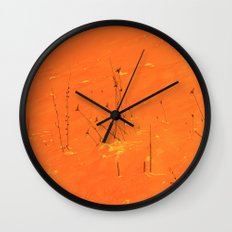Winter Grasses Wall Clock