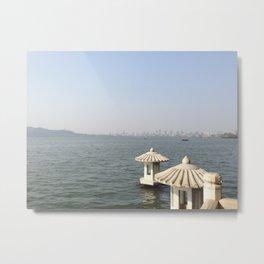 Hangzhou Lanterns Metal Print