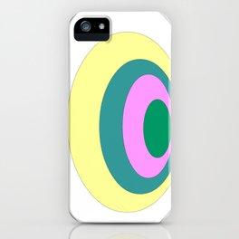 Circles graphic design iPhone Case