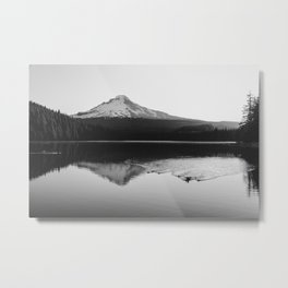 Wild Mountain Sunrise - Black and White Nature Photography Metal Print