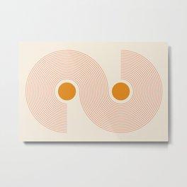 Abstraction_NEW_SUN_LINE_POP_ART_MInimalism_00S10 Metal Print
