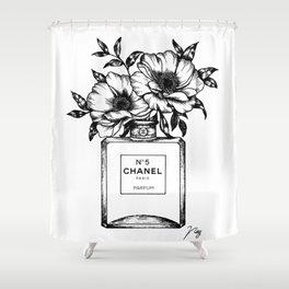 Foral Fragrance Shower Curtain