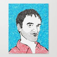 quentin tarantino Canvas Prints featuring Quentin Tarantino by TSV89