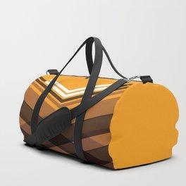 Brown Stripes Duffle Bag