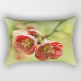 Chaenomeles flowers Rectangular Pillow