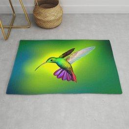 Amazing Fantastic Colorful Exotic Kolibri Humming Bird Hovering Close Up Ultra HD Rug