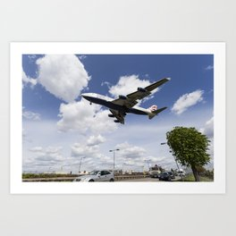 British Airways Boeing 747 Art Print