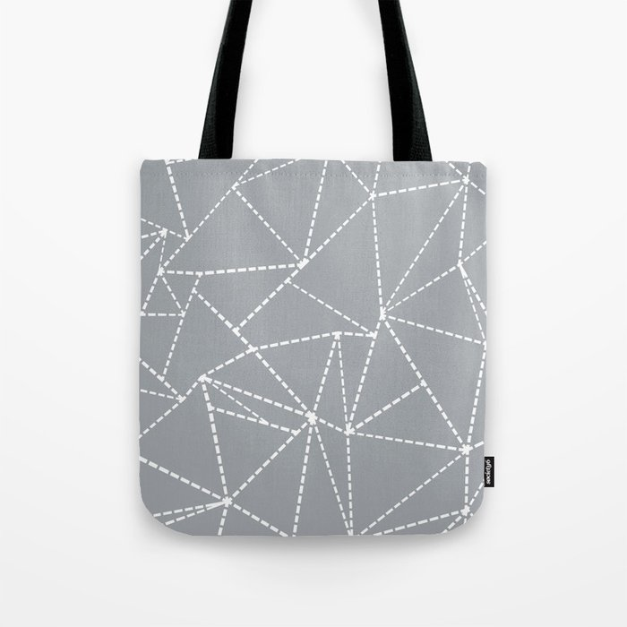 Abstract Dotted Lines Grey Tote Bag
