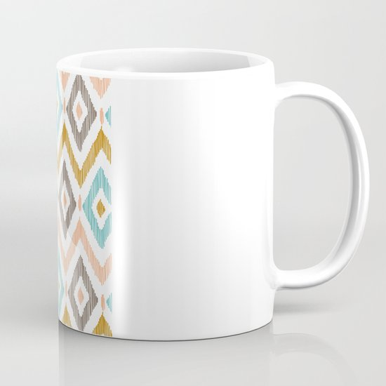 Sketchy Diamond IKAT Mug