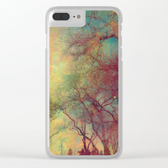 Tree Silhouette, Autumn Sunset Clear iPhone Case