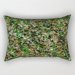 Army Splat Painting Rectangular Pillow