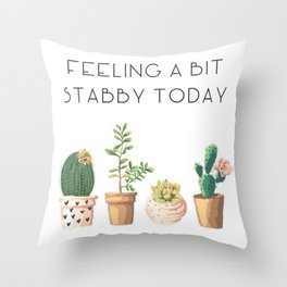 Stabby Throw Pillow