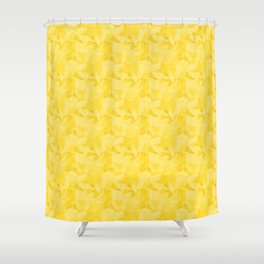 Pantone Vibrant Yellow 13-0858 Abstract Geometrical Triangle Patterns 2 Shower Curtain