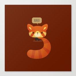 Little Furry Friends - Red Panda Canvas Print