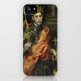 El Greco  -  St. Louis  And His Page iPhone Case
