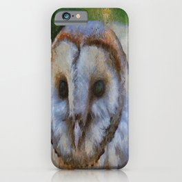 Tawny Owl In The Style of Camille iPhone Case