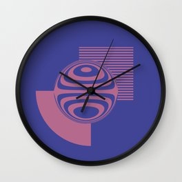 Experimentation with vector design on sphere glass reflection, 3D ambient. Version B. Wall Clock