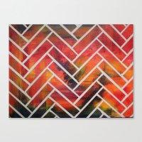 herringbone Canvas Prints featuring Herringbone by Alyssa Clancy