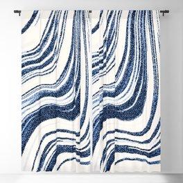 Textured Marble - Indigo Blue Blackout Curtain