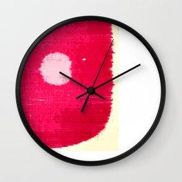 BRIGHT PINK SPOT No.6 Wall Clock
