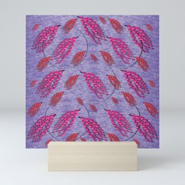 red sakura in a tropical forest of  colors Mini Art Print